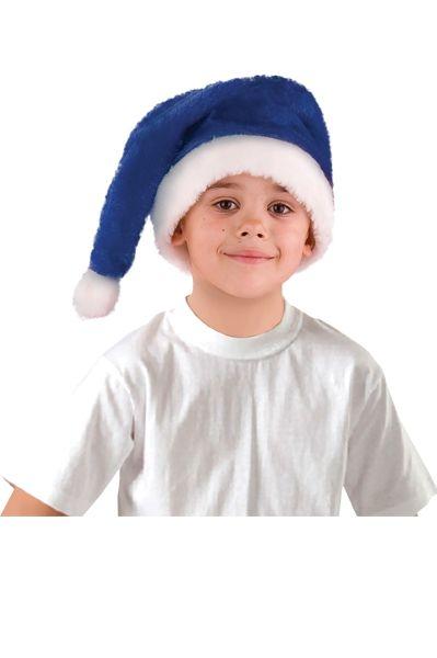 Колпак новогодний синий (UNI) - Шляпы карнавальные