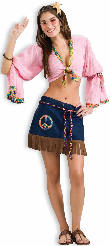 Костюм  хиппи-девушки (46-48) костюм цветочной хиппи 48