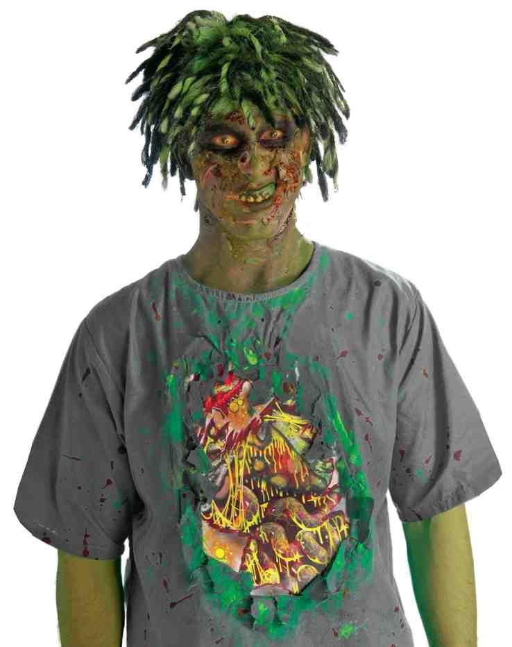 Футболка грязного зомби (52-54) костюм зомби охранника 52 54