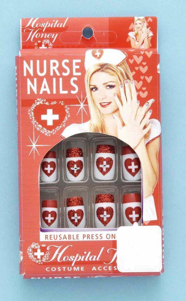 Накладные ногти медсестры (42-46) чулки медсестры в сетку 42 44