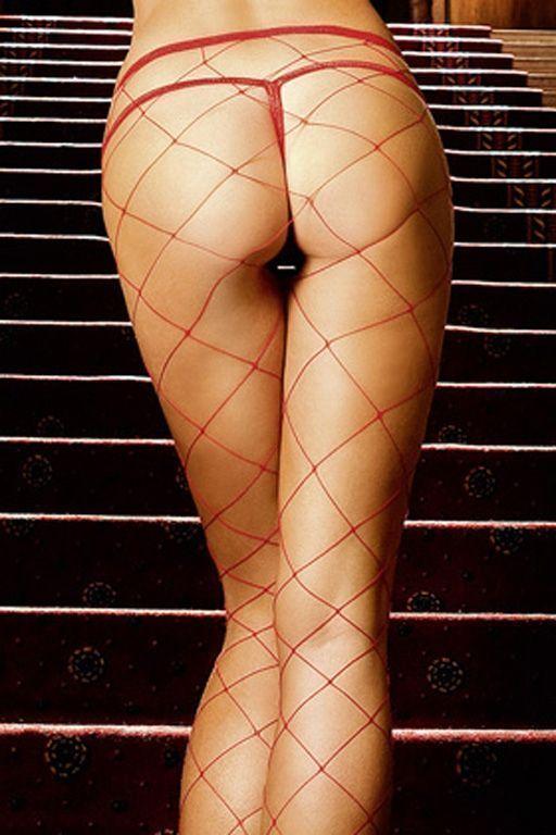 Колготки красные в крупную сетку (48) baci колготки красные в крупную сетку размер универсальный xs l