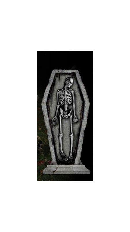 Готическое надгробие - Скелет в гробу (UNI) надгробие с демоном uni