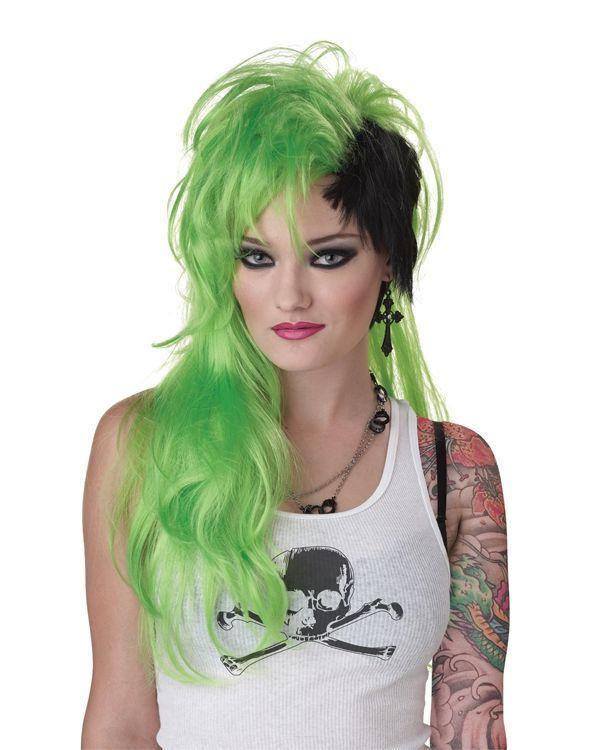 Зелёный панк парик (UNI) - Парики и волосы