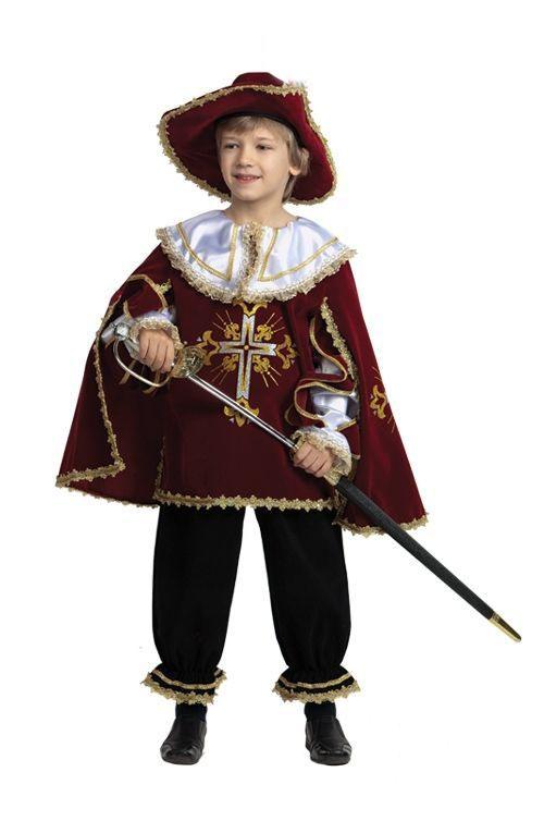 Детский костюм мушкетера бордовый (28) от Vkostume