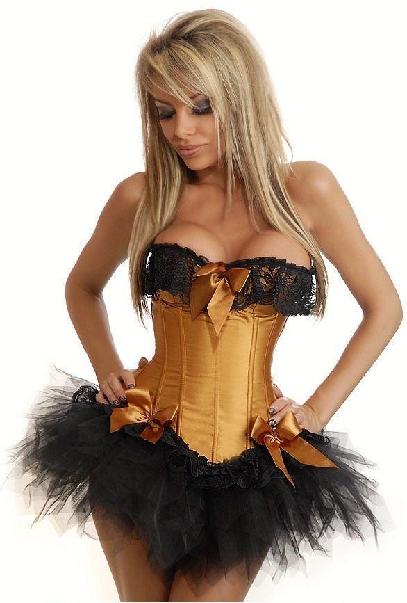 Корсет с пышной юбкой - бронза (50) корсет с пышной юбкой