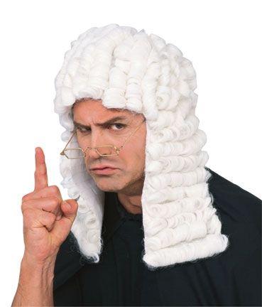 Белый парик судьи (UNI) - Парики и волосы