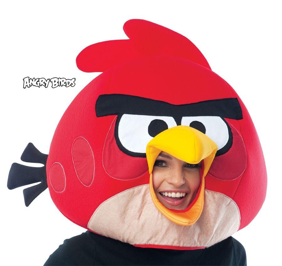 Красная маска ANGRY BIRDS (UNI) плюшевая маска зайки uni