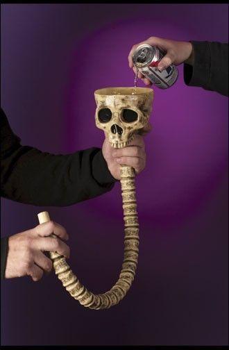 Воронка для напитков Череп (UNI) - Аксессуары на Хэллоуин