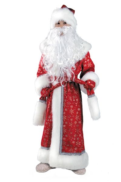 Детский костюм Дедушки Мороза Плюшевый (32-34) -  Новогодние костюмы