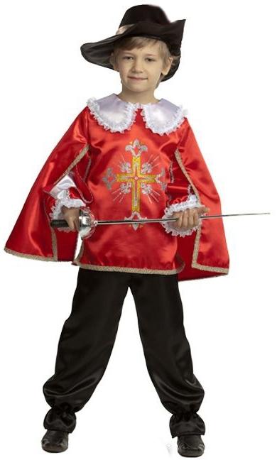 Детский костюм мушкетёра красный (34)