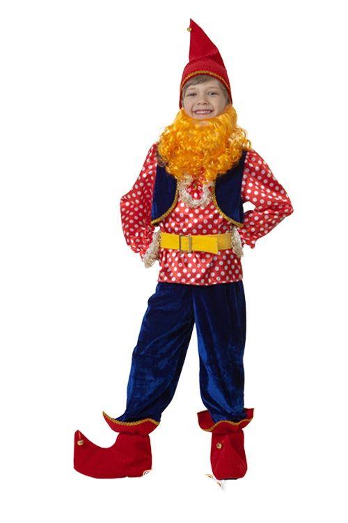 Детский костюм Весёлого Гномика (26) детский костюм озорного клоуна 34