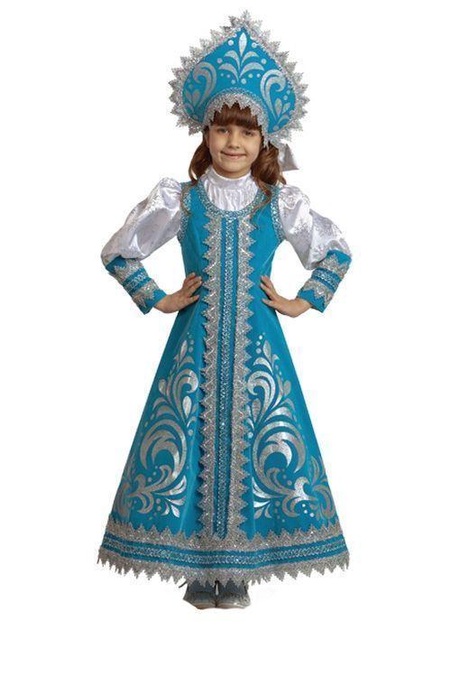 Детский костюм прекрасной Снегурочки (34)