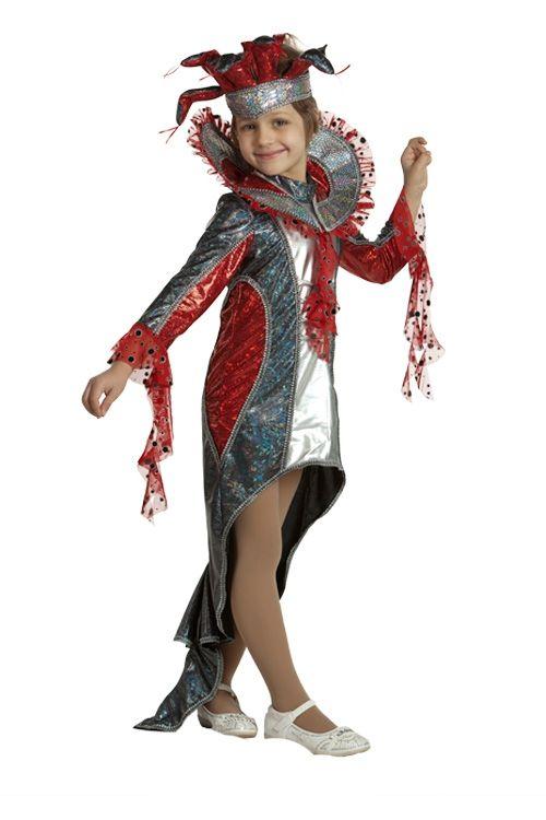 Детский костюм Красной Змейки (34) детский костюм озорного клоуна 34