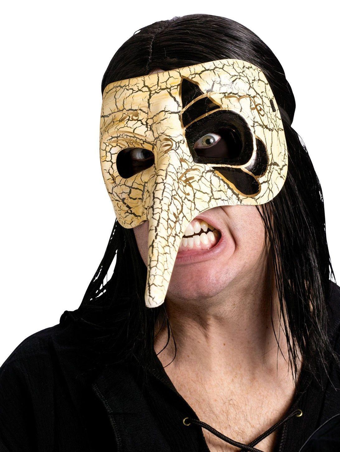 Венецианская белая маска ворона (UNI) плащ и маска штурмовик uni