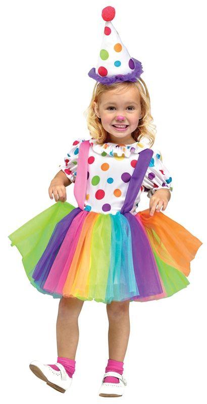 Детский костюм веселой клоунессы (34-38) - Юмор, р.34-38