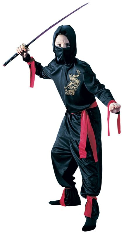 Детский костюм чёрного Ниндзи (32-34) детский костюм джульетты 32 34