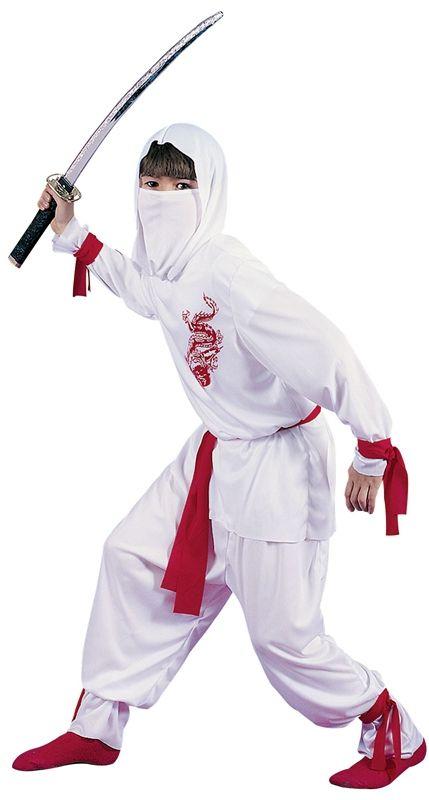 Детский костюм белого Ниндзи (40) - Национальные костюмы, р.40