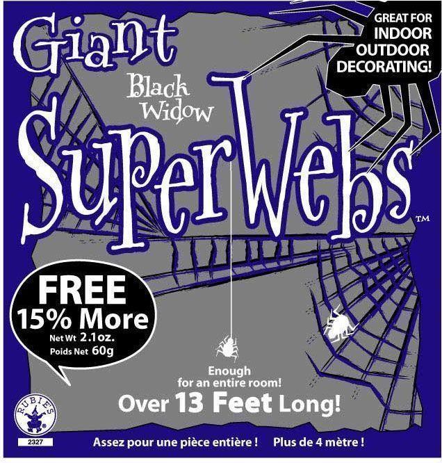 Паутина с пауками 60 грамм - Животные и зверушки