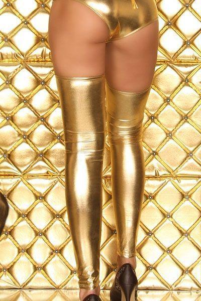 Золотые длинные гетры (44) - Чулки и колготки, р.44