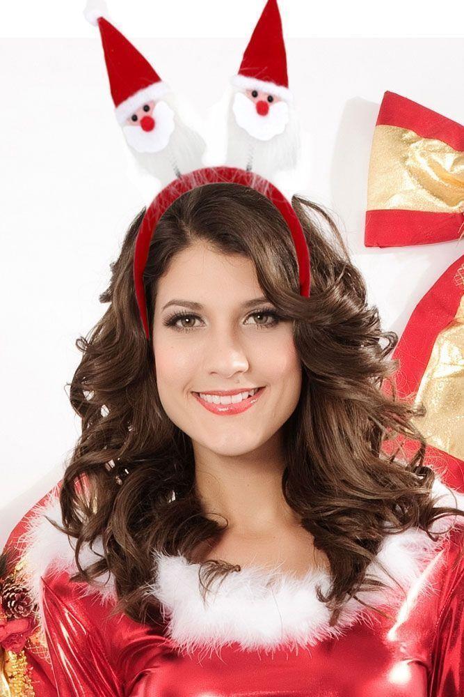 Ободок для волос Санта (UNI) - Аксессуары на карнавал