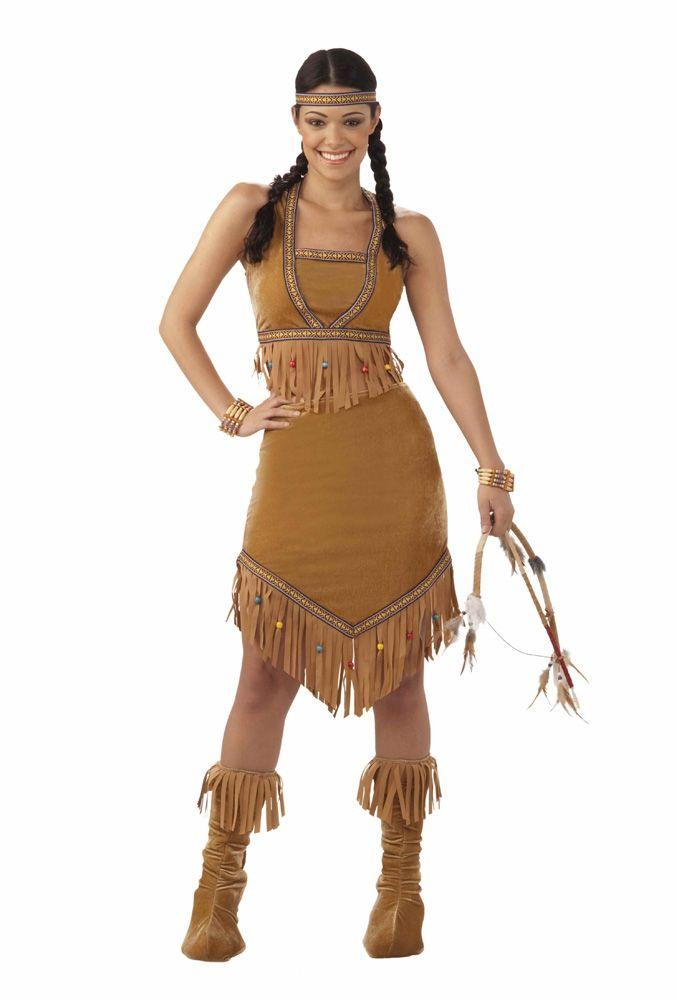 Коричневый костюм индейской принцессы (48) - Исторические костюмы, р.48