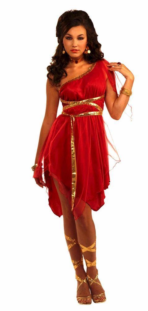 Красный костюм греческой Богини (46-48)