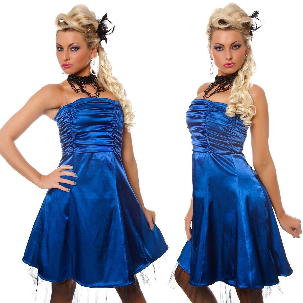 Синее платье без бретелек (46) лифчик без бретелек и застежек
