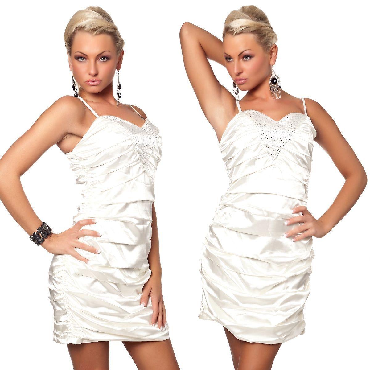 Атласное вечернее платье (46) -  Коктейльные платья