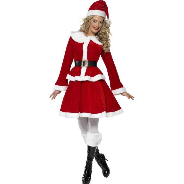 Костюм мисс Санты с муфтой (48-50) - Новогодние костюмы, р.48-50