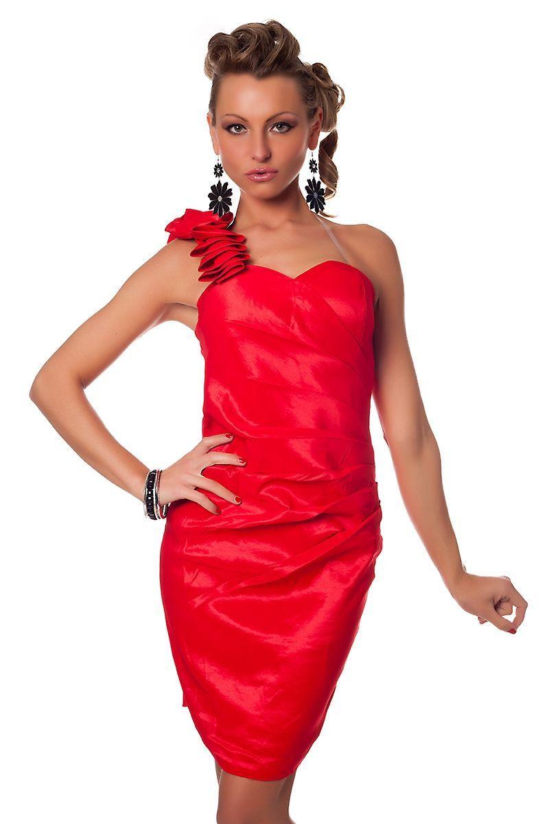 Красное коктейльное платье платье красное без брителей marchella