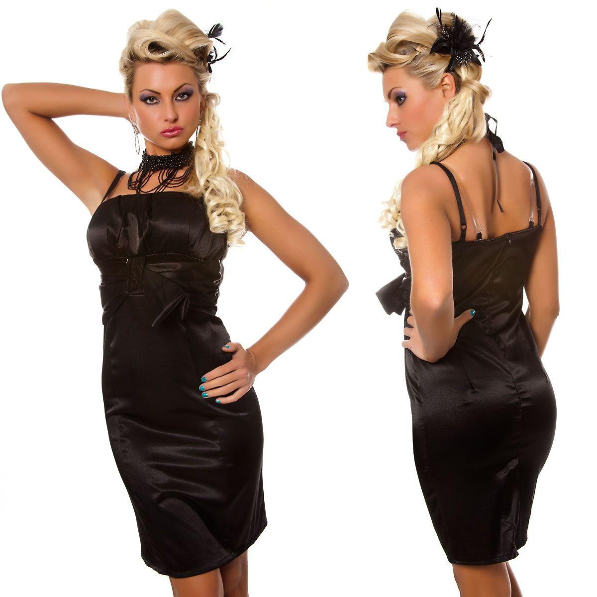 Черное облегающее платье (42) Catch Fashion 4385c