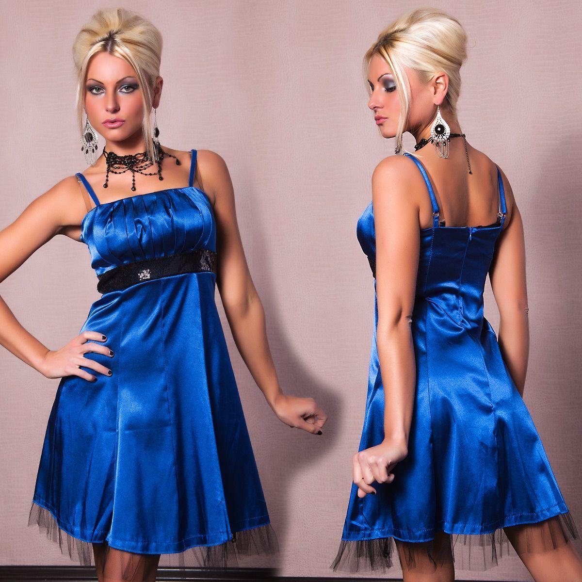 Синее платье с поясом (42) Catch Fashion 4175c