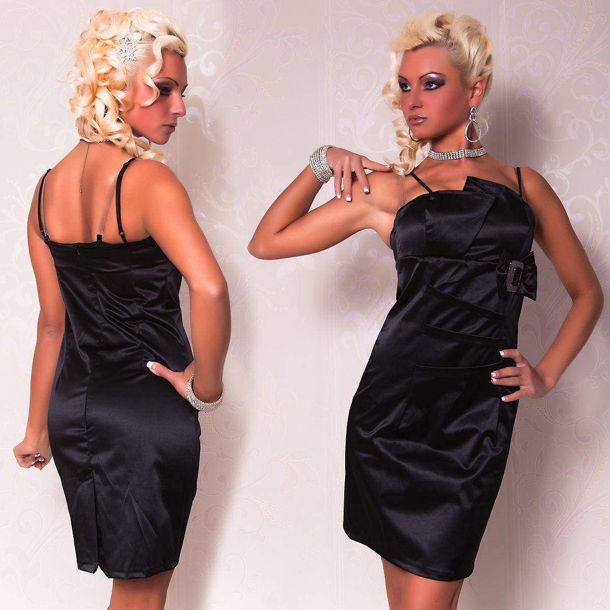 Черное платье-карандаш с пряжкой (42) Catch Fashion 4932b