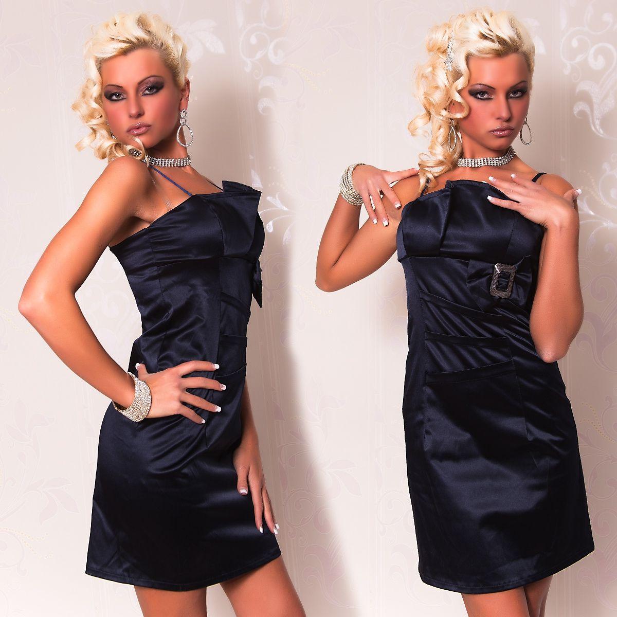Темно-синее платье-карандаш с пряжкой (42) Catch Fashion 4937b
