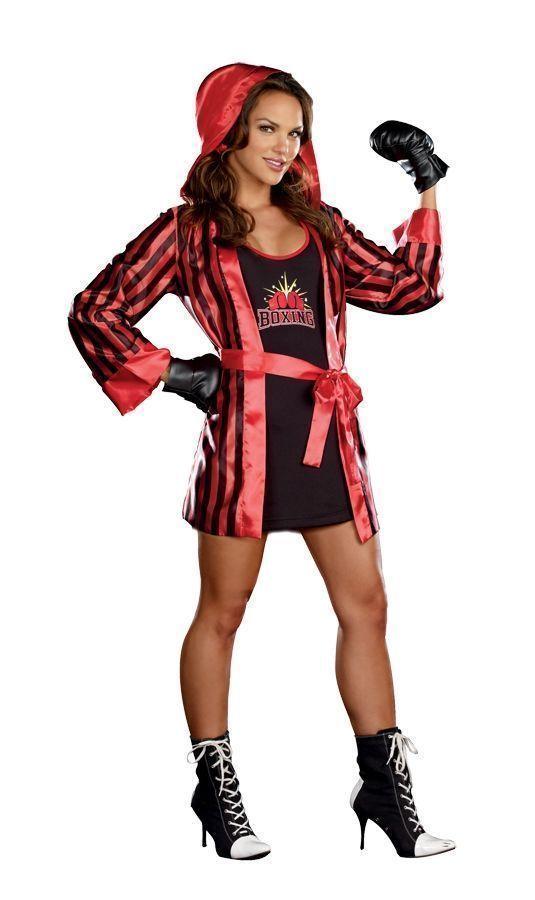 Красно-чёрный костюм боксёрши (48) - Спорт, р.48