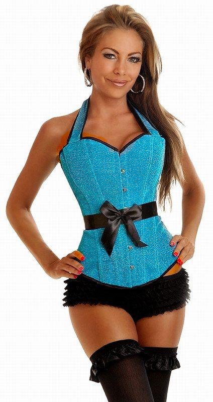 Голубой блестящий корсет (44) Dg Lover 130635608