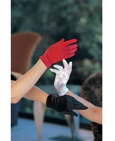 Красные короткие перчатки (48) - Перчатки и рукава, р.48
