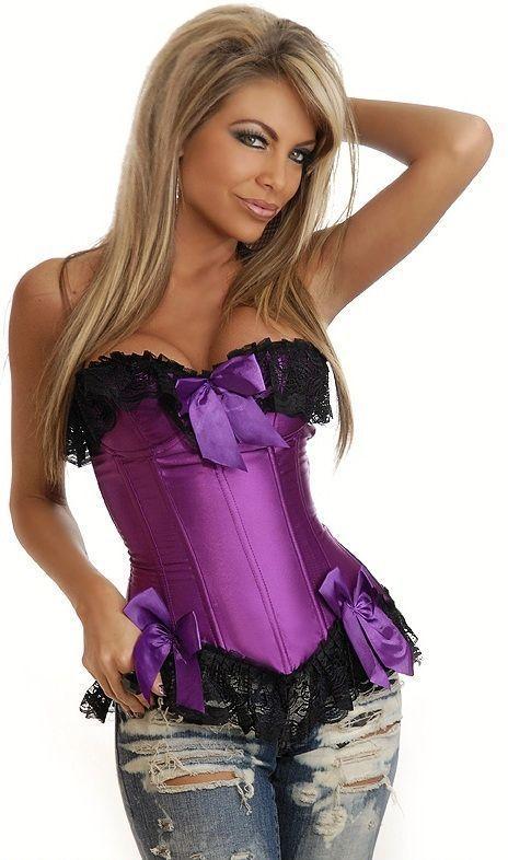Фиолетовый корсет с бантиками (44) Dg Lover DG-6297-2