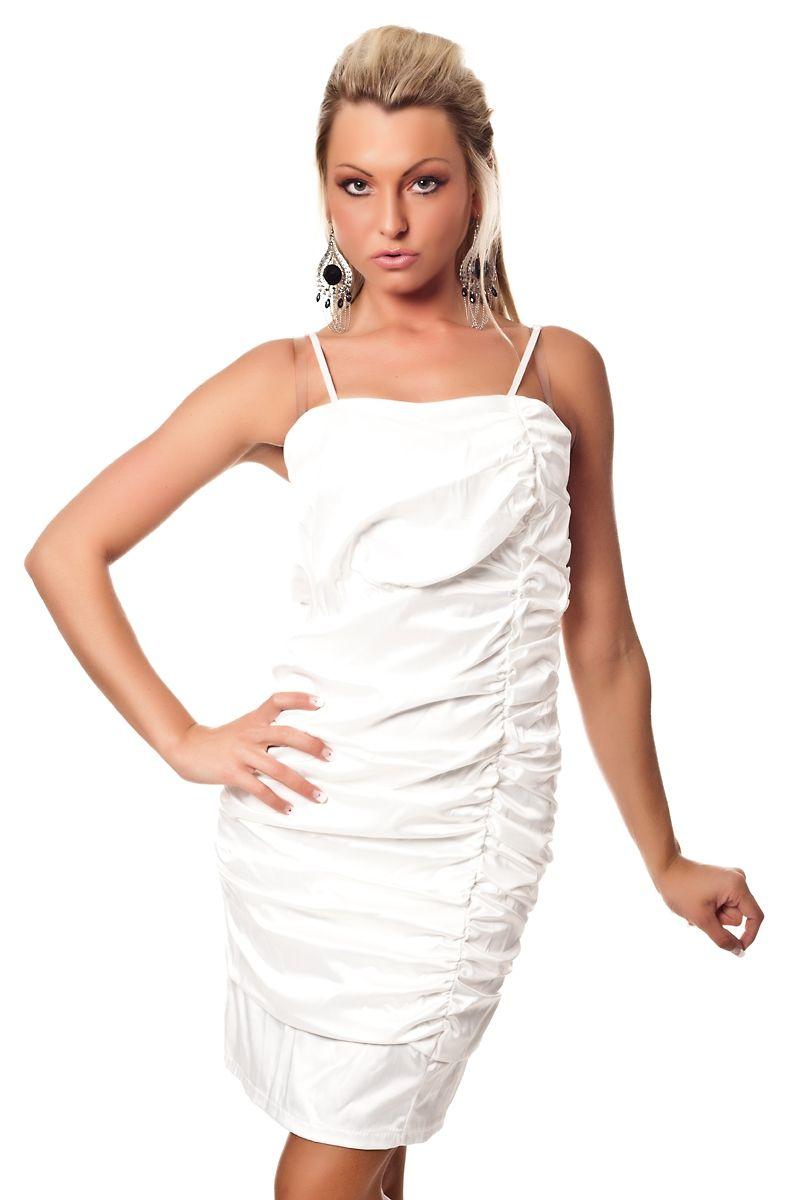 Белое платье-карандаш со сборками (42) Catch Fashion 4945b