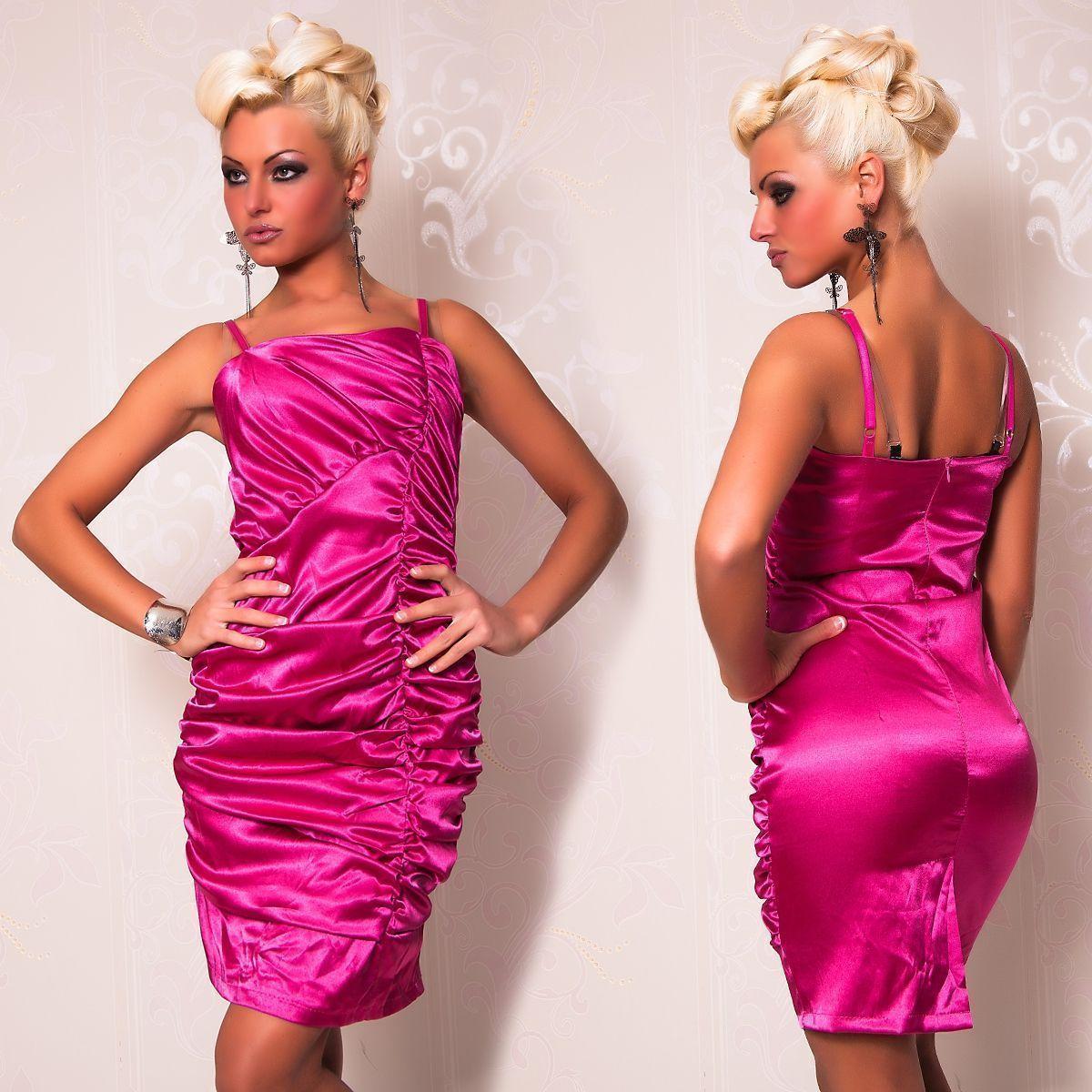 Розовое платье со складками (44) Catch Fashion 4875b