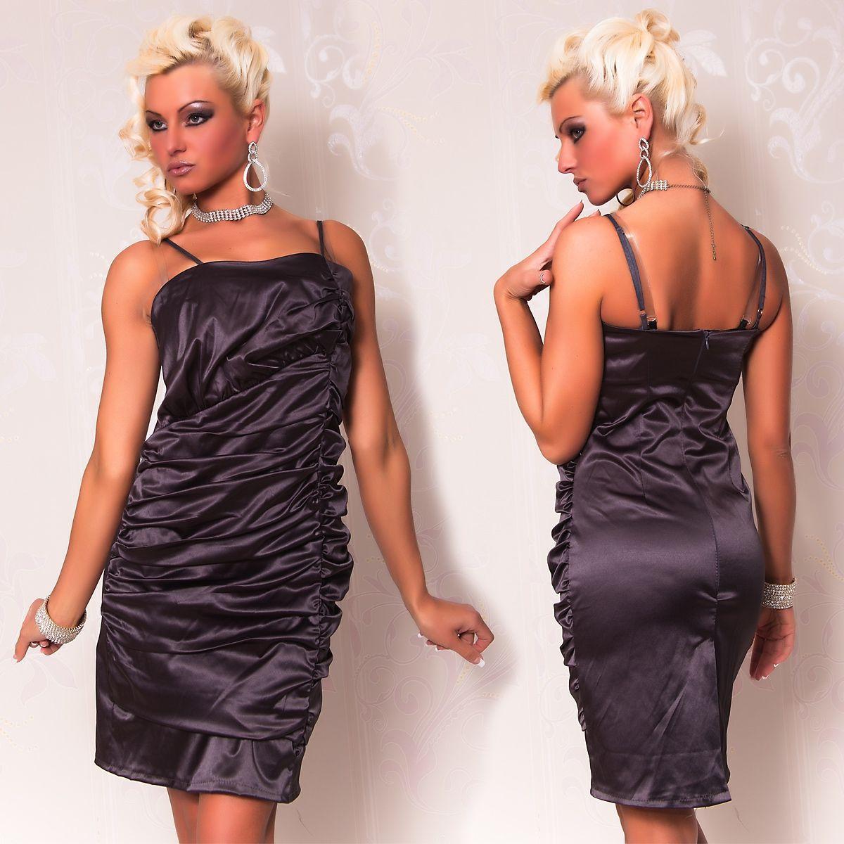Темно-серое платье со складками (42) Catch Fashion 4940b