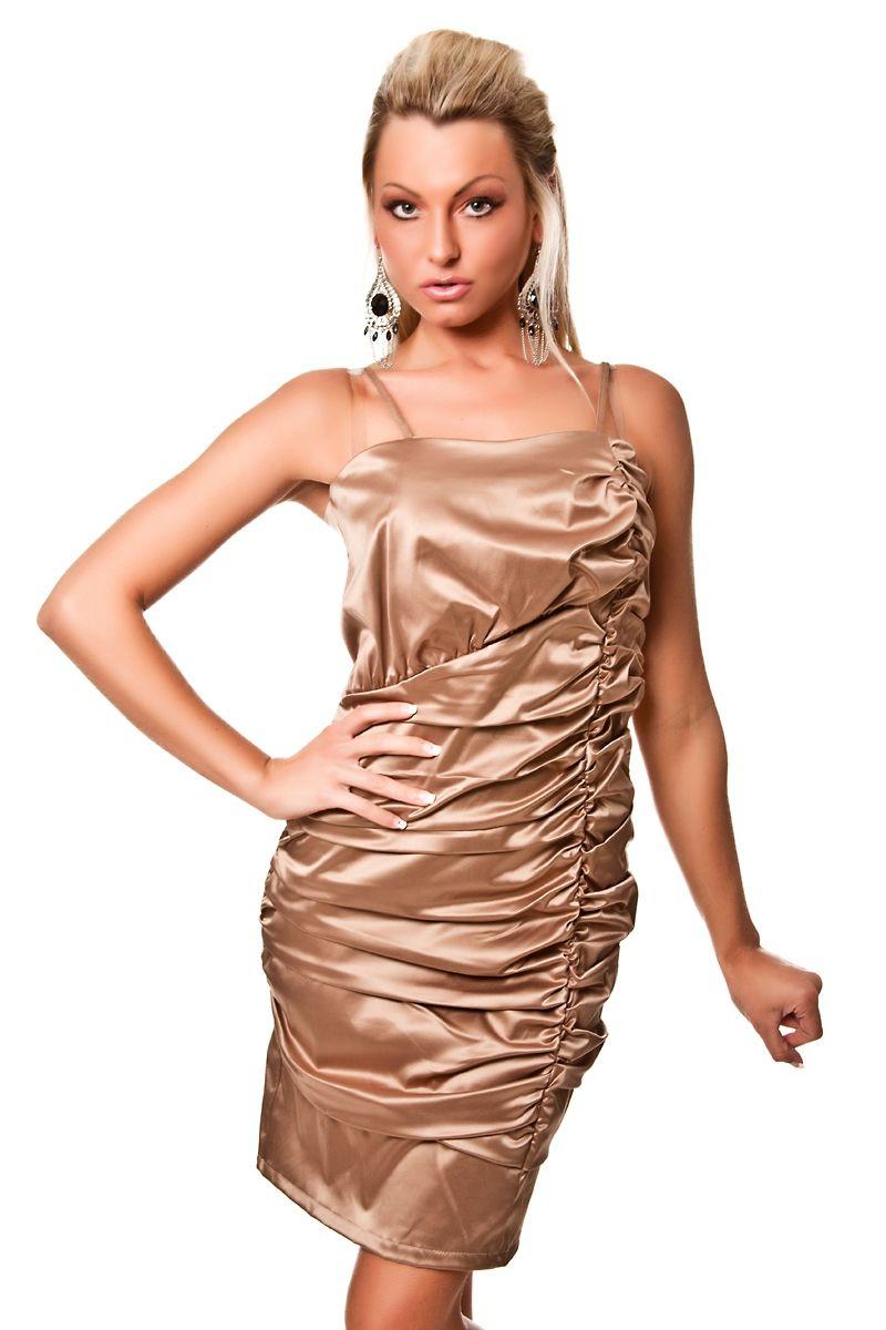 Темно-золотое платье со складками (46) золотое платье