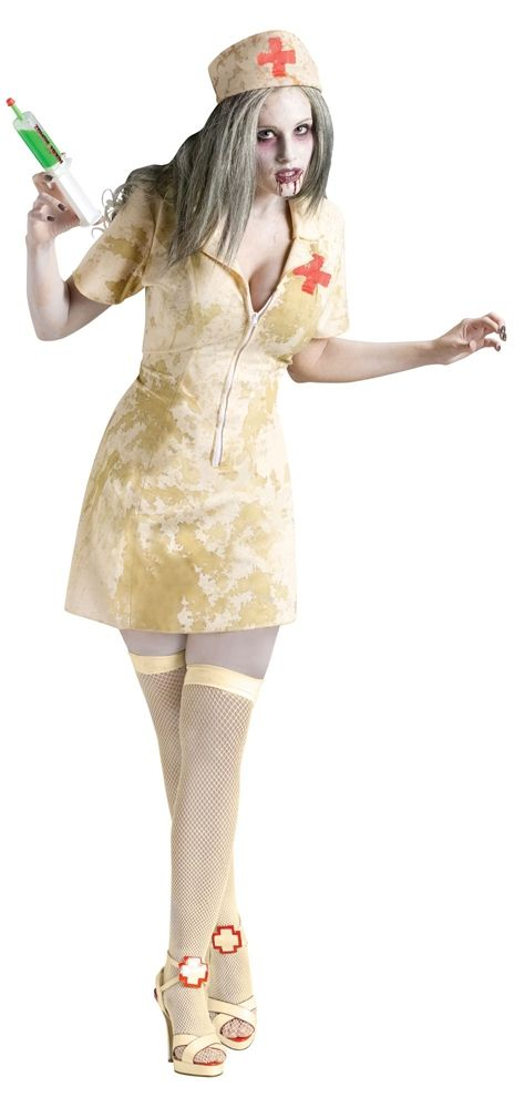 Костюм в пятнах зомби медсестры (46-48) - Медсестры, р.46-48