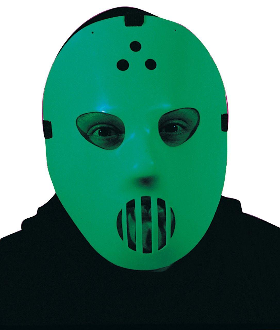 Светящаяся маска для хоккея (UNI) - Аксессуары на Хэллоуин