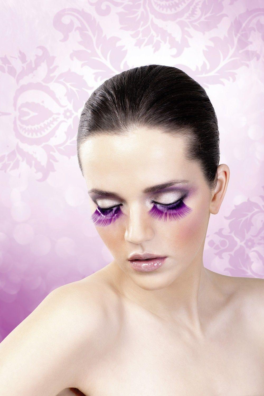 Ресницы фиолетовые длинные (UNI) - Грим и шрамы