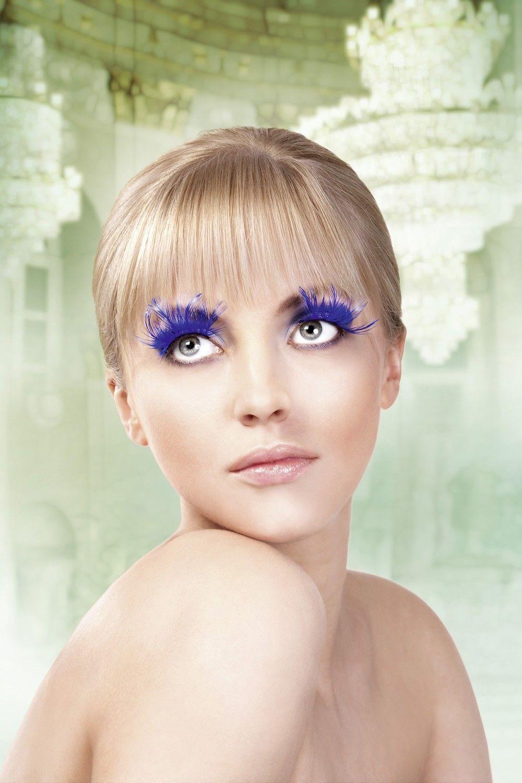 Ресницы синие перьевые (UNI) - Грим и шрамы
