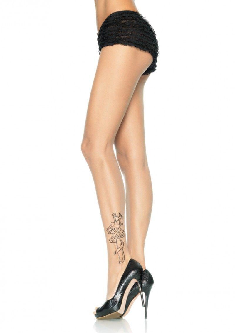 Колготки с татуировкой (44-50) в астане книгу девушка с татуировкой