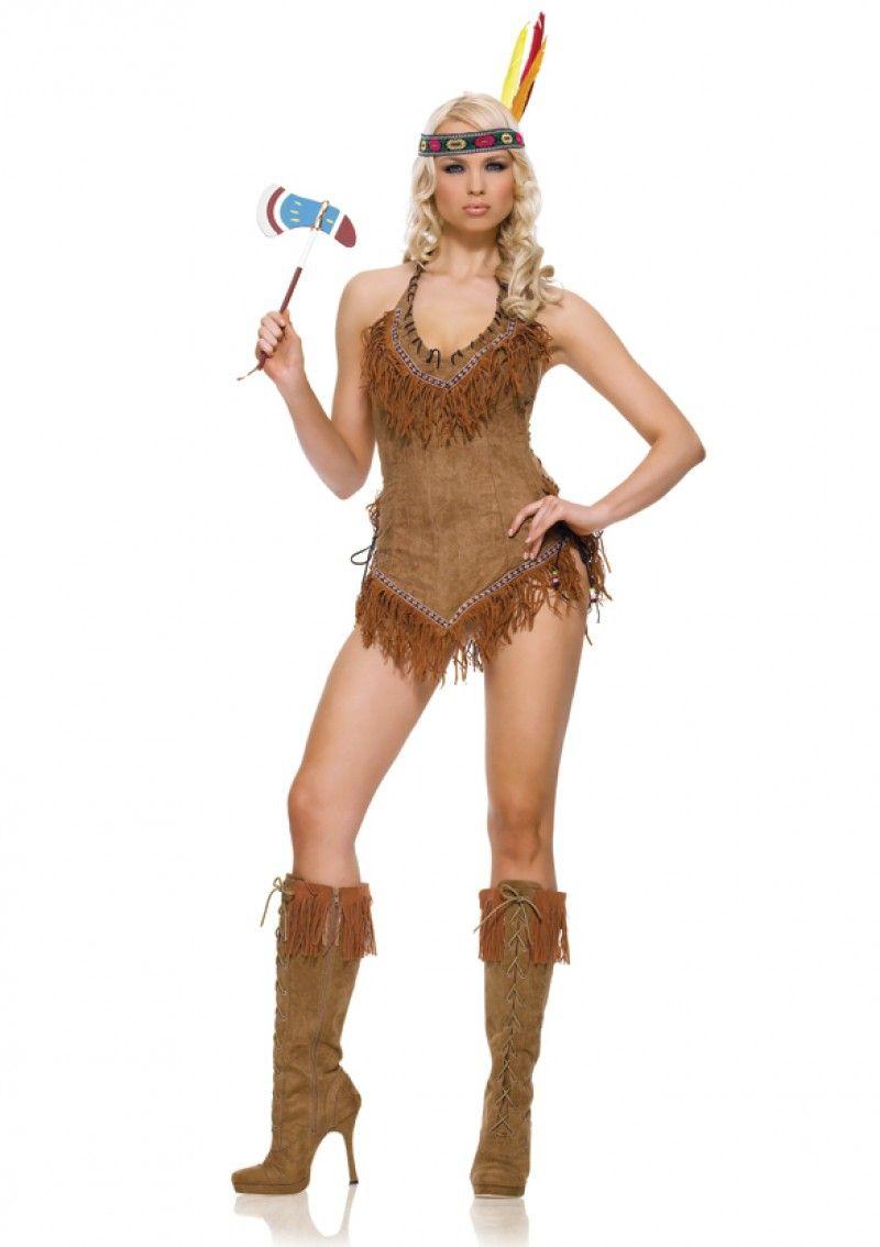 Коричневый костюм индейской девушки (46) - Исторические костюмы, р.46