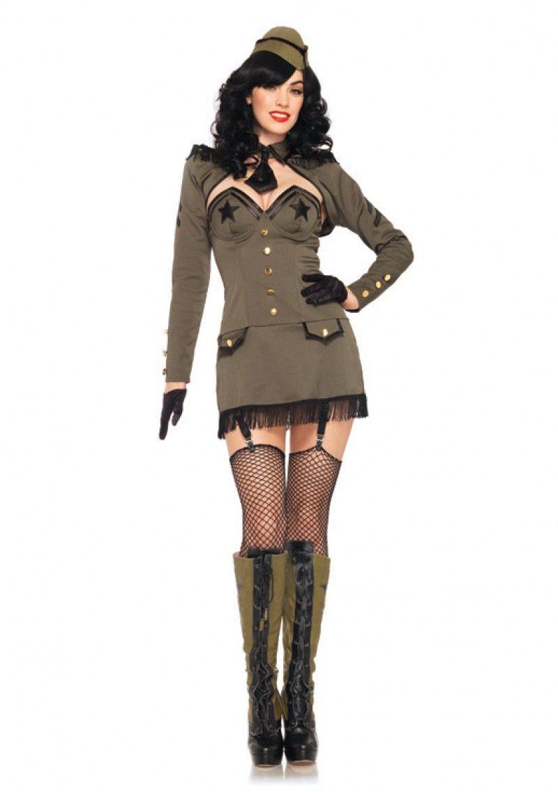 Эротический костюм милитари фото 786-29
