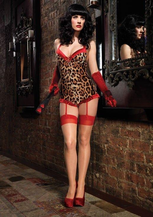 Тедди леопардовое с подвязками (50-52) - Боди, р.50-52